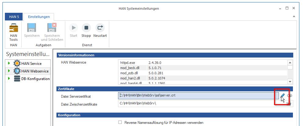 Wildcard-Konfiguration (DNS-Kernel-Modus)